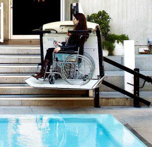 Platform wheelchair stairlift V64